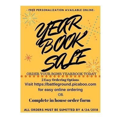 Order Your BGMS 2017-2018 Yearbook Today!