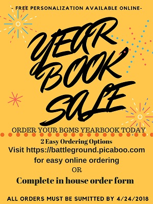 Yearbook Order Form Information